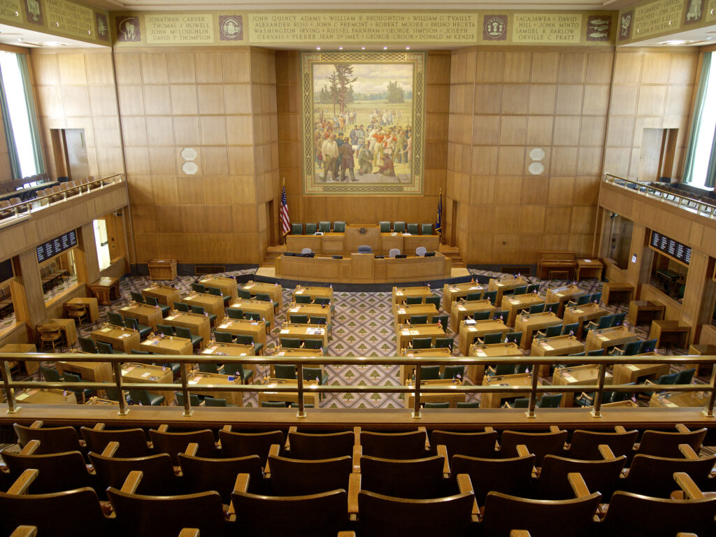 Interior Oregon House of Representatives State Capitol Chairs Upper Gallery