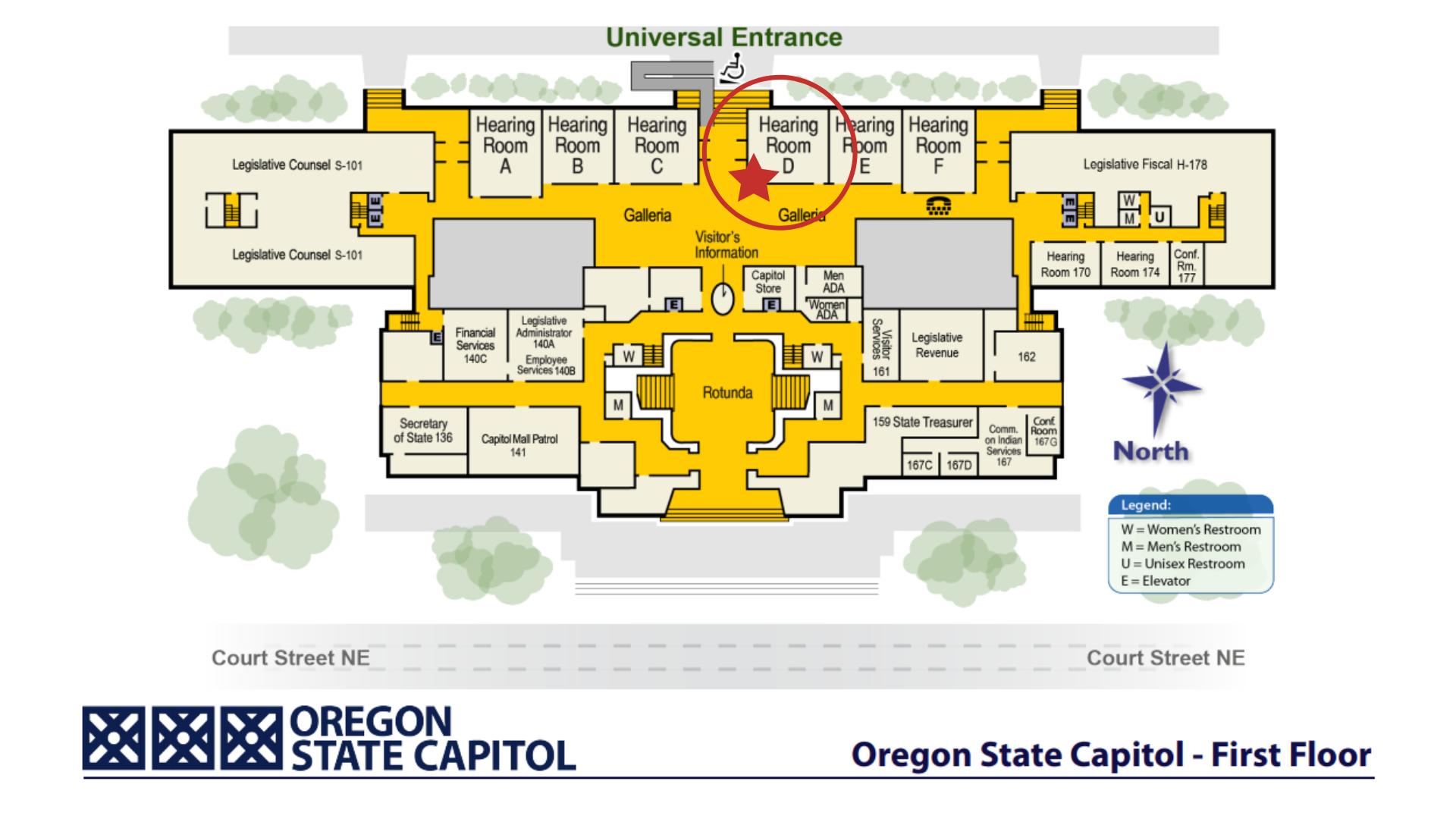 Oregon Capitol Hearing Room D